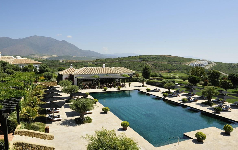 Golf-Expedition-Golf-reizen-Spanje-Regio-Malaga-Finca-Cortesin-Hotel-Golf-&-Spa-pool-view