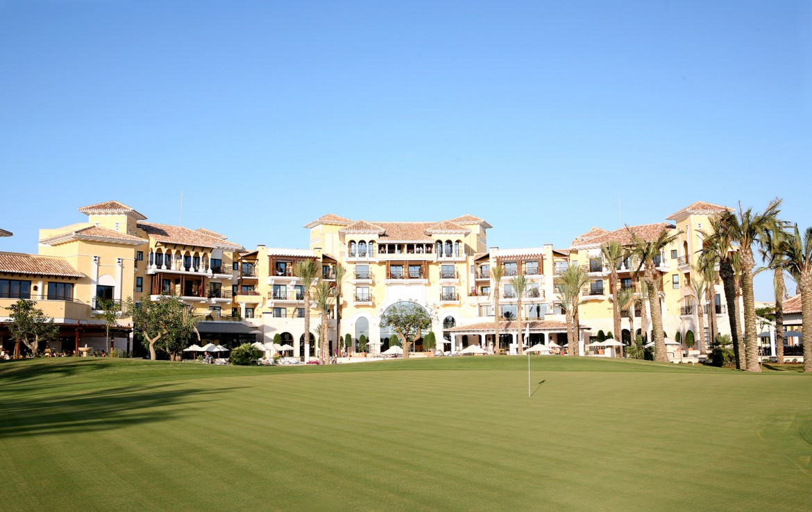Golf-Expedition-Golf-reizen-Spanje-Regio-Valencia-intercontinental-Mar-Menor-Golf-Resort-&-Spa-Front-view-2