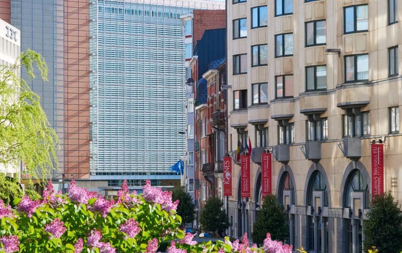 Golfexpedition-Golfreizen-België-Brussel-Brussels-course-bloemen-gebouwen